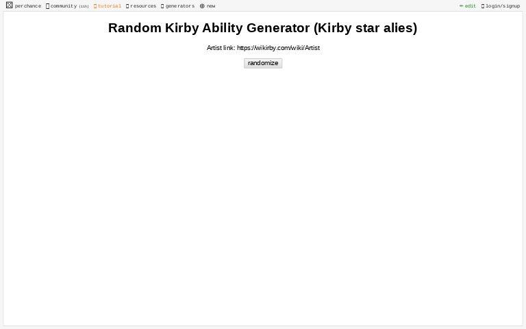 Random Kirby Ability Generator Kirby Star Alies Perchance Org