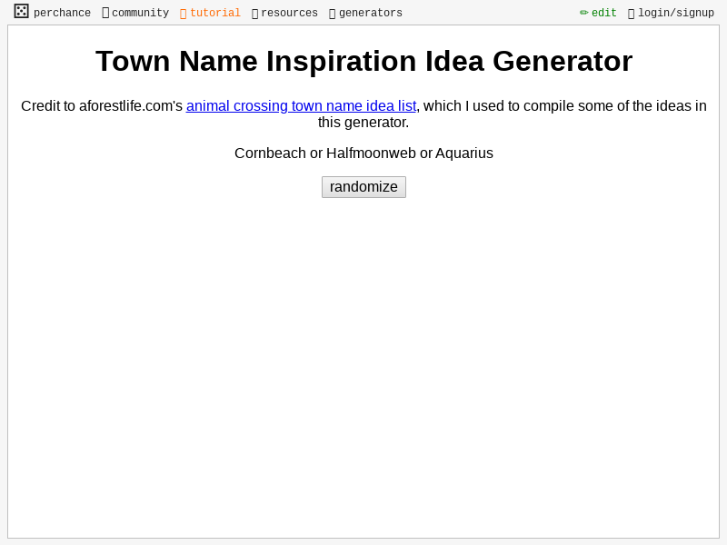 Town Name Inspiration Idea Generator Perchance Org