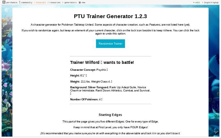 Ptu Trainer Generator 1 2 3 Perchance