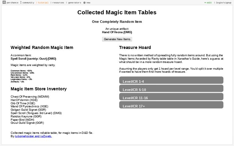 F0dgxhhocc4g4m The random name generator is a simple fiction writing tool to create character names. https perchance org randommagicitem