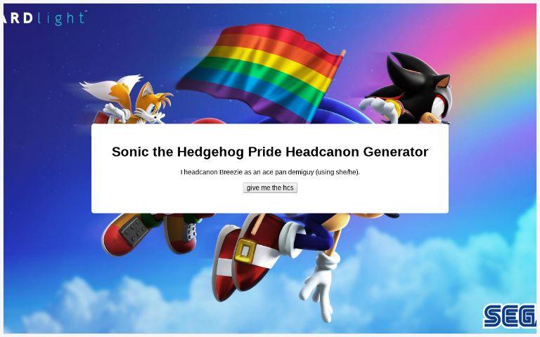 Sonic The Hedgehog Pride Headcanon Generator Perchance Org